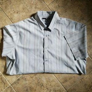 MURANO Mens XL short sleeve dress shirt worn twice
